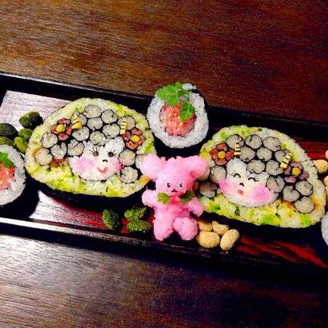 こんな可愛い鬼さんの恵方巻きもいいかな?(o^^o) - 230件のもぐもぐ - 節分可愛い鬼さんの飾り寿司 ❷ by 富士子