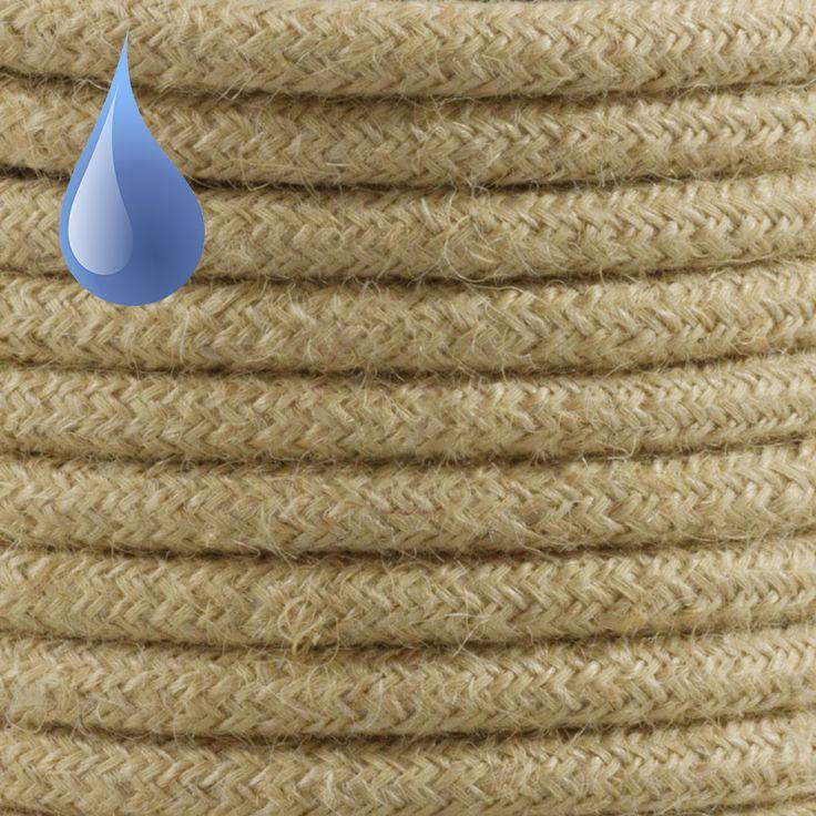 Comprar | Cable textil decorativo exteriores color lino | Cable textil colores exterior  #iluminacion #decoracion #accesorioslamparas #lamparas #cablesdecolores  #cables electricos #cableelectricoexterior