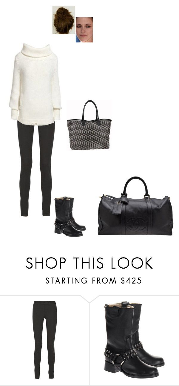 """Sem título #4943"" by gracebeckett on Polyvore featuring moda, The Row, Zadig & Voltaire, Chanel e Goyard"