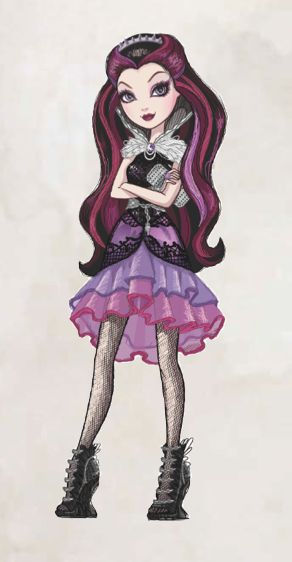 Raven Queen, the Daughter of the Evil Queen- Ever After High <<< One of my favorite characters!! She's SO COOL!! X3