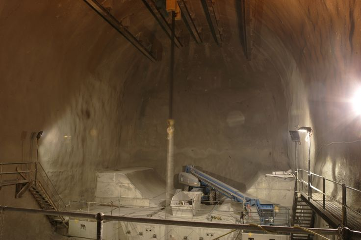 Tunnel Boring Machine Burial Chamber, Kenny Constructions during Airport Link Project.