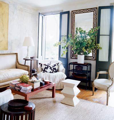 Eclectic Style Black French DoorsBlack DoorsModern Living RoomsLiving Room IdeasLiving