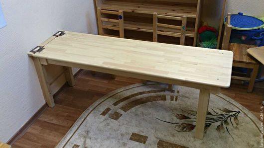 Детская ручной работы. Ярмарка Мастеров - ручная работа. Купить стол раскладной. Handmade. Желтый, мебель для детских, стол деревянный