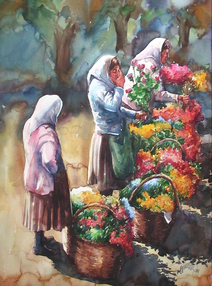 Flower Saller Woman-Atanur Doğan