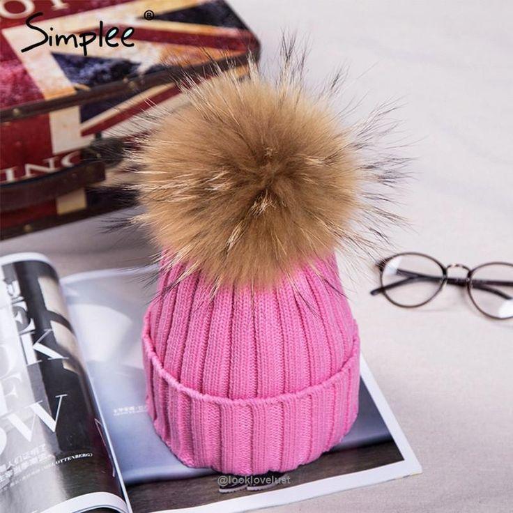 Simplee Fur Pom Pom Bobble Hats - Pink - Hats, www.looklovelust.com - 20,  https://www.looklovelust.com/products/simplee-fur-pom-pom-bobble-hats