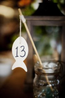 Gone Fishing Escort Cards and Table Numbers