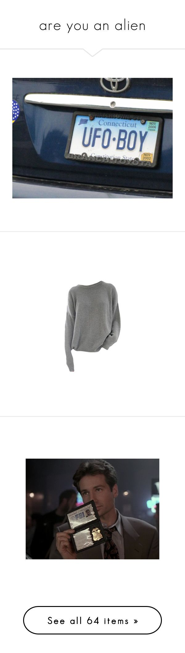 """""""are you an alien"""" by lun-ors ❤ liked on Polyvore featuring pictures, photos, pics, text, tops, sweaters, shirts, jumpers, pullover shirt and long sleeve jumper"""