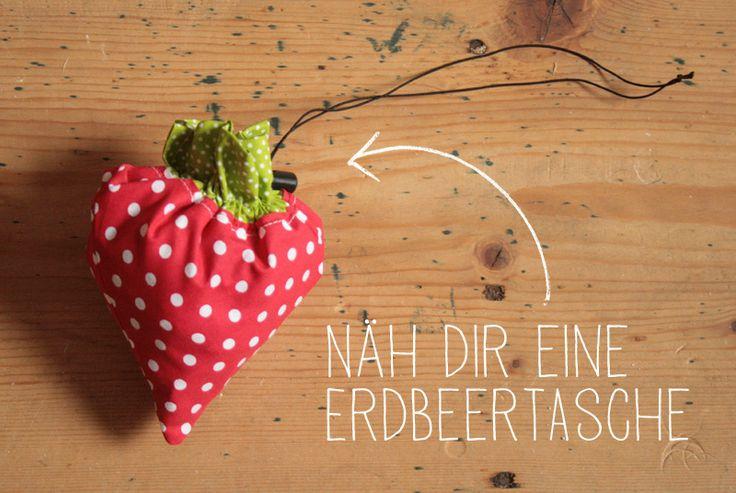 Beutel lässt sich zur Erdbeere zusammenfalten -free