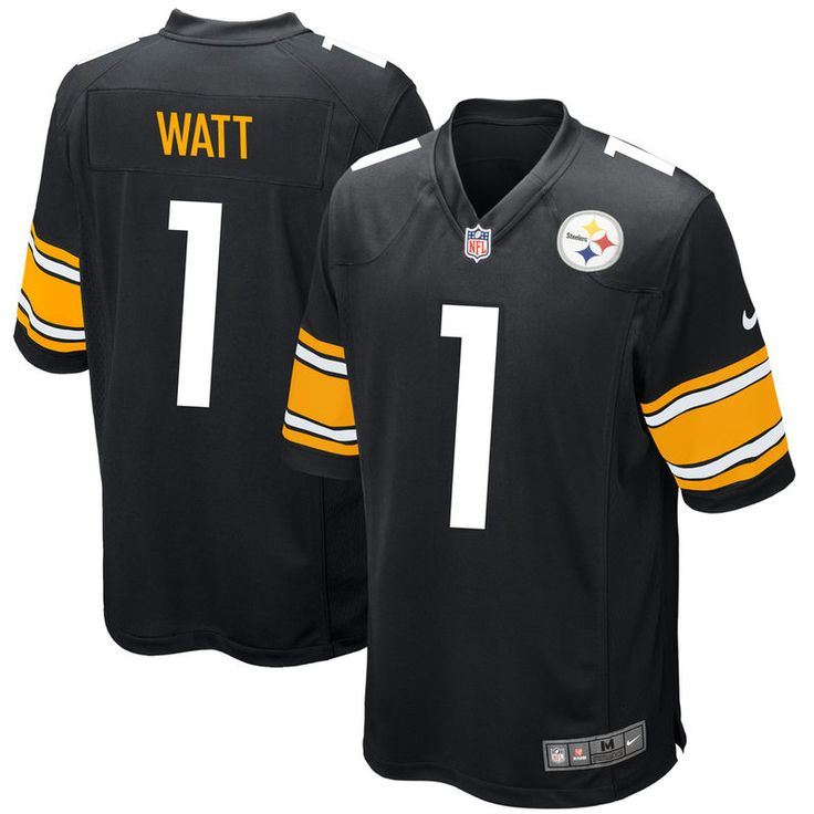 726cf42e120 ... T.J. Watt Pittsburgh Steelers Nike 2017 Draft Pick Game Jersey - Black  Mens 2017 NFL Draft Pittsburgh Steelers 30 James Conner ...