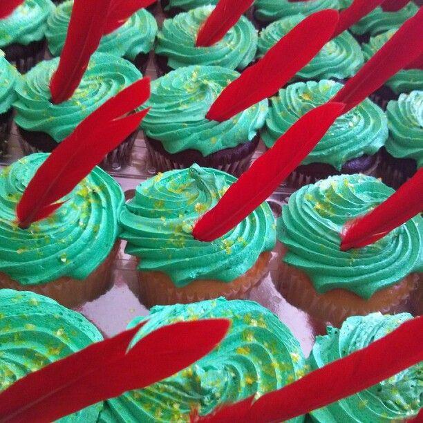 Peter Pan hat cupcakes!
