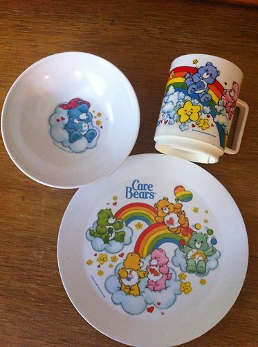 An adorable Care Bears dining set.