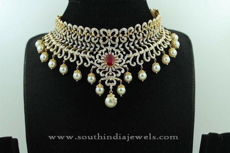 Gold+Diamond+Jewellery+Necklace+Designs