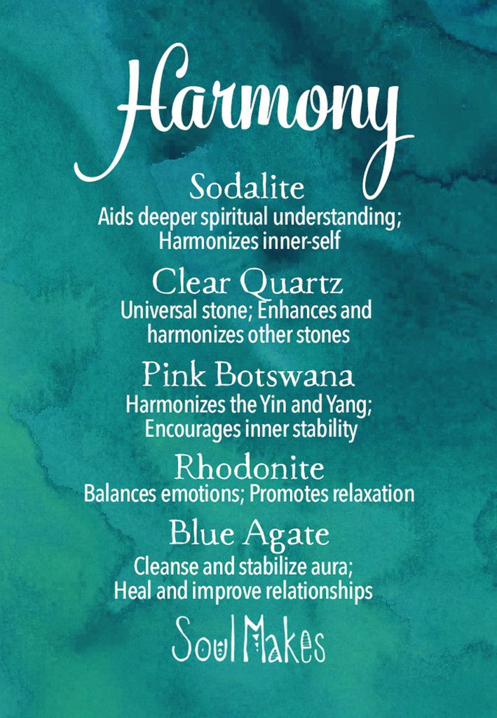 °Harmony & Balance crystals meaning card by SoulMakes