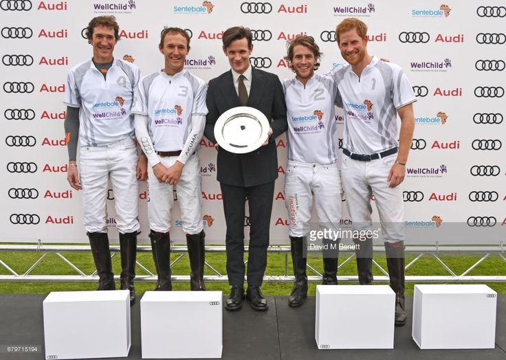 (L to R) Luke Tomlinson, Mark Tomlinson, Matt Smith, Charlie Hanbury and Prince Harry attend the Audi Polo Challenge at Coworth Park on May 6, 2017 in Ascot, United Kingdom.  (Photo by David M Benett/Dave Benett/Getty Images for Audi UK)