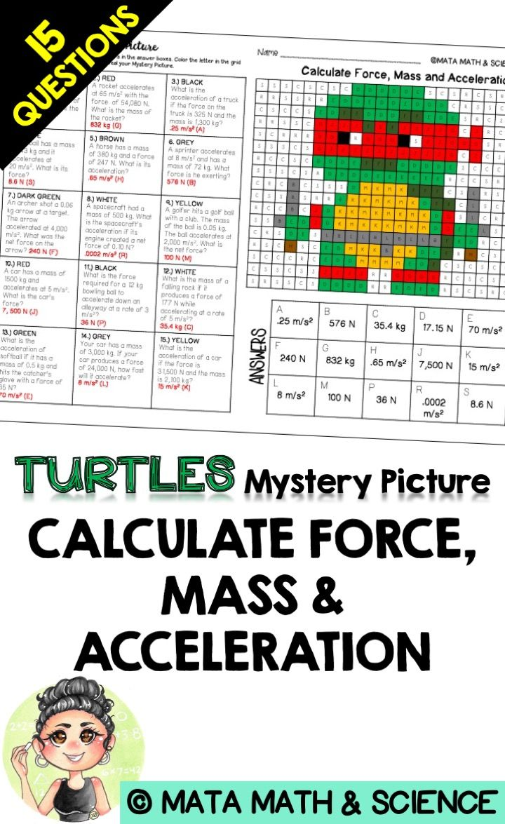 Calculate Force Mass And Acceleration Science Mystery Picture
