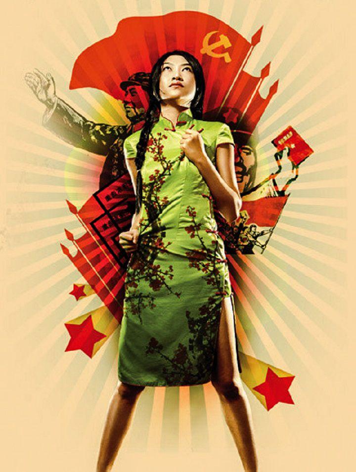 Iconic cheongsam used in Chinese pop art