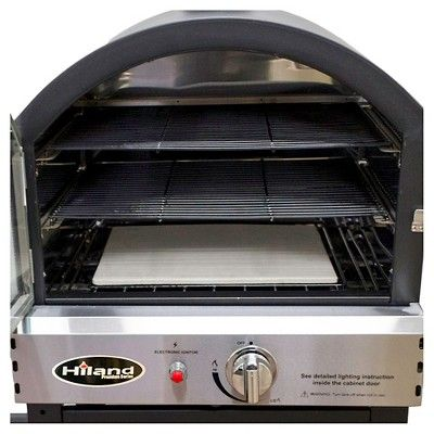 AZ Patio Heaters Propane Pizza Oven Trolly - Matte Black
