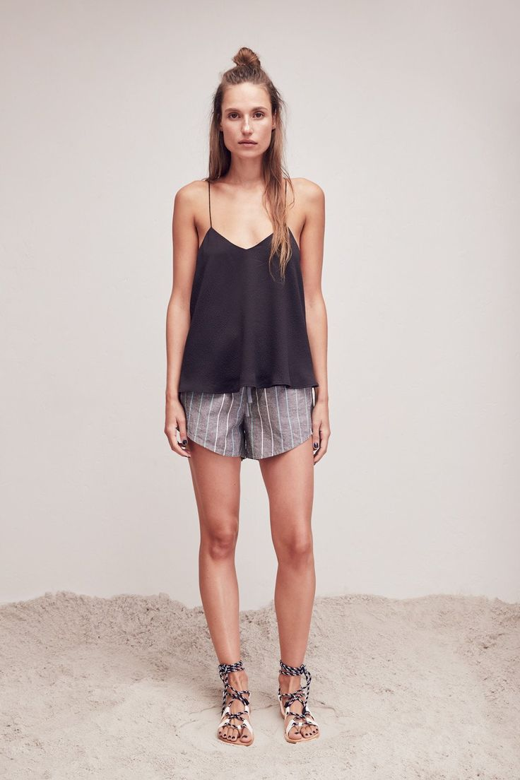 L.W.B. RESORT 16: VOLUME CAMI and ANGLE STRIPE SHORT.