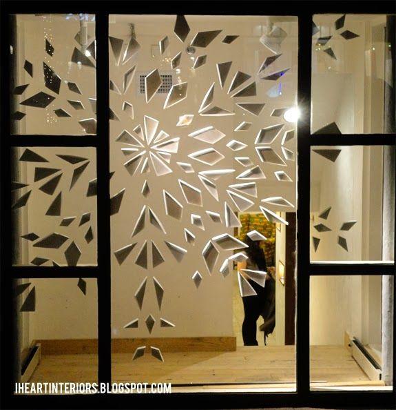 i heart interiors: Anthropologie Window Display :: Let it Snow