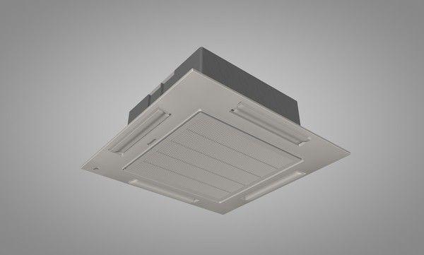3Ds Max Panasonic Ceiling Air Conditioner - 3D Model