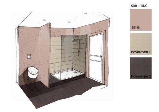 Architecture int rieure am nager son espace repr sentation pinterest - Croquis de salle de bain ...