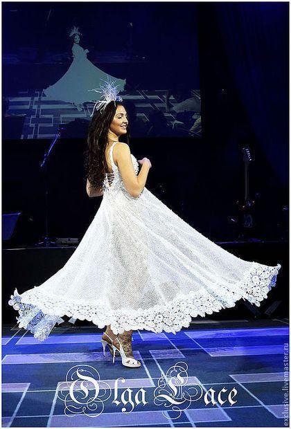 Купить Кружевное свадебное платье - белый, свадебное платье, вязаное свадебное платье
