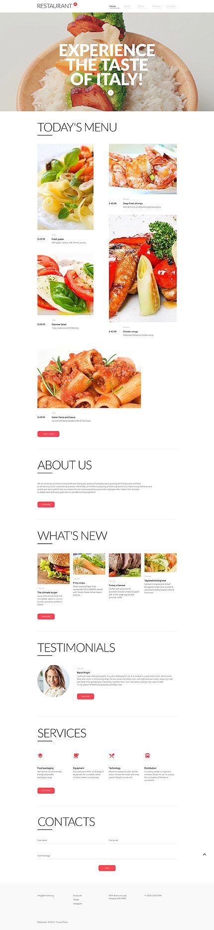 The Best Restaurant Website Templates Ideas On Pinterest