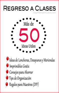 Más de 50 ideas útiles para el regreso a clases   #regresoaclases #backtoschool #ideas  http://soymamaencasa.com/2014/07/regreso-a-clases-50-ideas-utiles.html