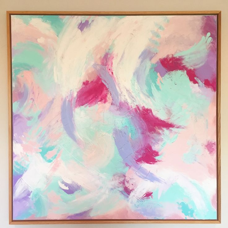 P I M M S  I N  T H E  P A R K framed in natural oak box frame   91cm square acrylic and texture medium on canvas - blush pink, lavender, mint, magenta and white - available for $350 and free shipping Australia wide click through to Facebook page or  pnicolaart@gmail.com