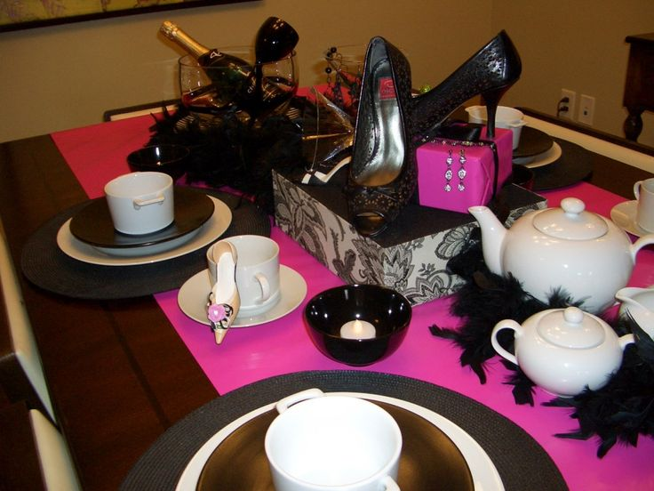Diva bridal shower decorations thrifty thursday glam for Winter bachelorette party ideas