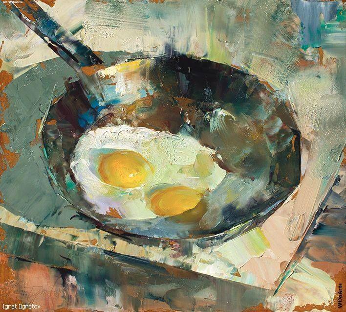 Ignat Ignatov at DuckDuckGo Palette knife painting, Art
