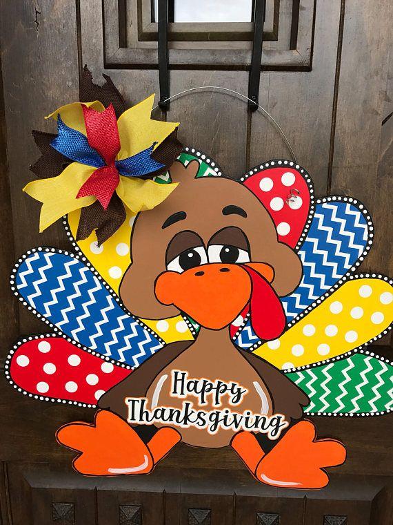 Large Thanksgiving Door Hanger Turkey Door Hanger Fall