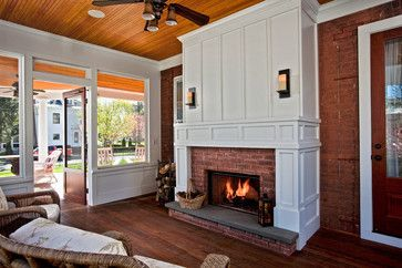 10 Fireplace Ideas - For a Florida girl, it's amazing how much I covet fireplaces! Just crank the A/C down and light the fire.