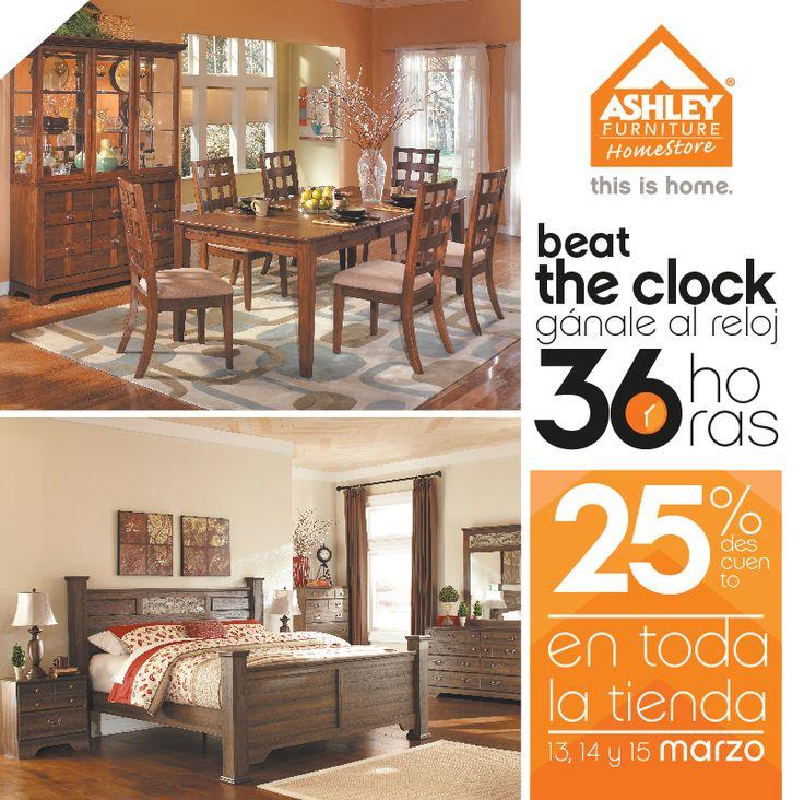 Este Fin De Semana Gánale Al Reloj 36 Horas De Descuentos En Ashley  Furniture Homestore Guatemala