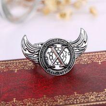 2015 nieuwe film X-MEN ringen sieraden rvs ringen jongen gift mannen ring creatieve vleugels sieraden(China (Mainland))
