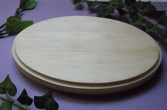 Oval Unfinished Wood DIY Base or Plaque