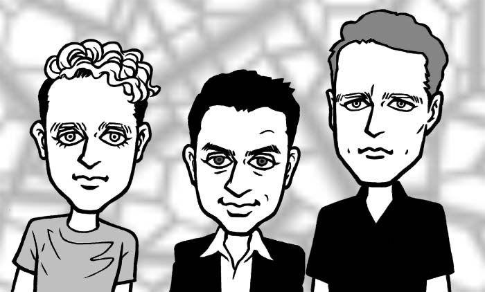 Depeche Mode cartoon - For Kball....He loves them!