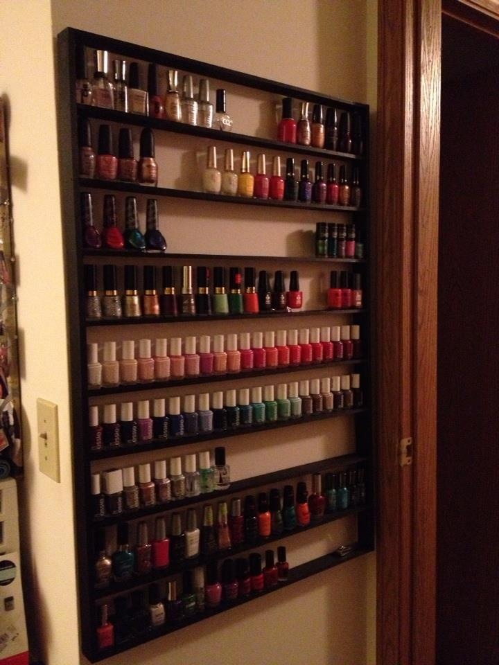 25 best ideas about nail polish racks on pinterest organize nail polish nail polish bottles. Black Bedroom Furniture Sets. Home Design Ideas