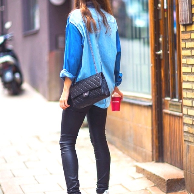 Denim and Leather loveee