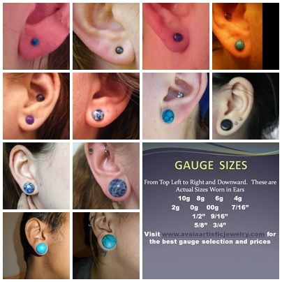 Actual Gauge Sizes Chart for Stretching