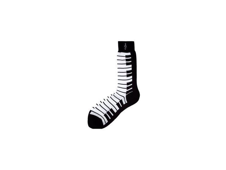 Ponožky s klaviaturou pánské - černé - HUDEBNIKUM.CZ
