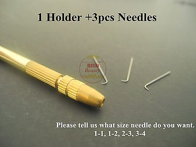BHD Wig Ventilating Needle and Holder for Making Lace Wig Toupee Hair Piece