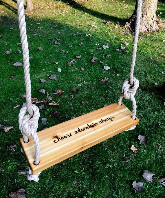 The Ultimate Swing Made From Reclaimed Wood Gardenista Tree Swing Wood Tree Swing Outdoor Swing