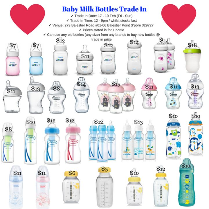 Hi Mummies & Daddies, ❤ Baby Warehouse Sales ❤  17 - 19 Feb (Fri - Sun) 12 - 9pm  @ 279 Balestier Road #01-06 Balestier Point S'pore 329727 SAVE BIG With Baby Warehouse Sales  Baby Bottles Trade In Offers ✔ Trade In Date: 17 - 19 Feb (Fri - Sun) ✔ Trade In Time: 12 - 9pm / whilst stocks last ✔ Venue: 279 Balestier Road #01-06 Balestier Point S'pore 329727  ✔ Can use any old bottles (any size) from any brands to buy new bottles @ trade in price ✔ Limit to 4 bottles per adult ✔ 1 old bottle…