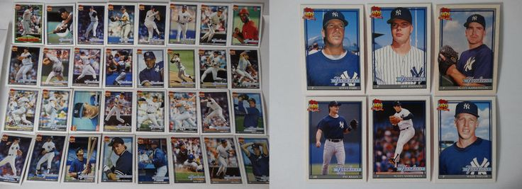 1991 Topps New York Yankees Team Set of 38 Baseball Cards With Traded #topps #NewYorkYankees