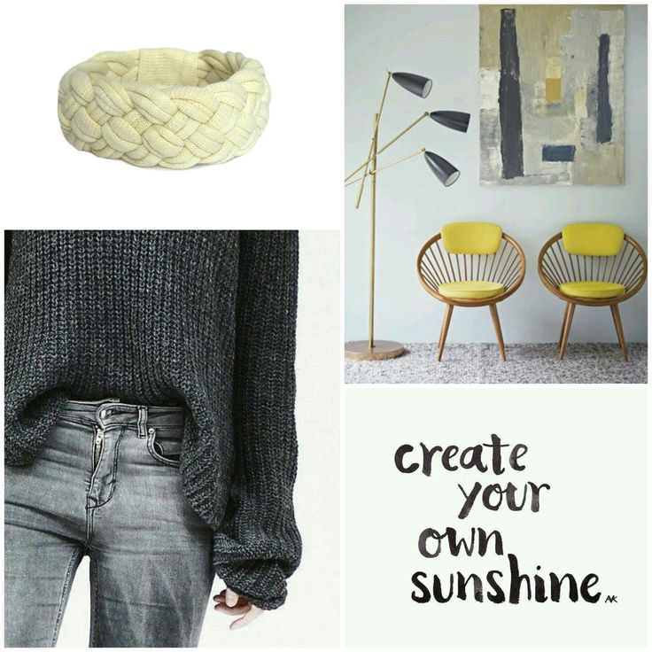 Create your own sunshine #beinspired #yellow and #grey http://etsy.me/2fgcouM #recycleyourtshirt #bracelet #handmade #etsysellers #etsy #etsyshop #moodboard
