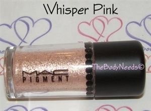 MAC Pigment in Whisper Pink. (Part of Set purchased at Cosmetic Outlet Store)
