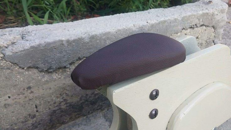 Brown leather selle handmade.