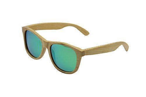 adb149f0c6 C3 Unisex handmade bamboo wood wayfarer polarized sunglasses ...