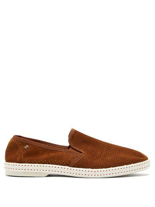 69027c90806 RIVIERAS RIVIERAS - SULTAN DES PLAGES PERFORATED SUEDE LOAFERS - MENS -  BROWN.  rivieras  shoes